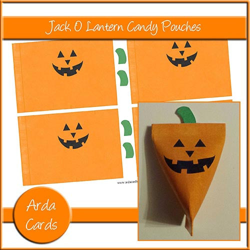 Jack O Lantern Candy Pouches - The Printable Craft Shop