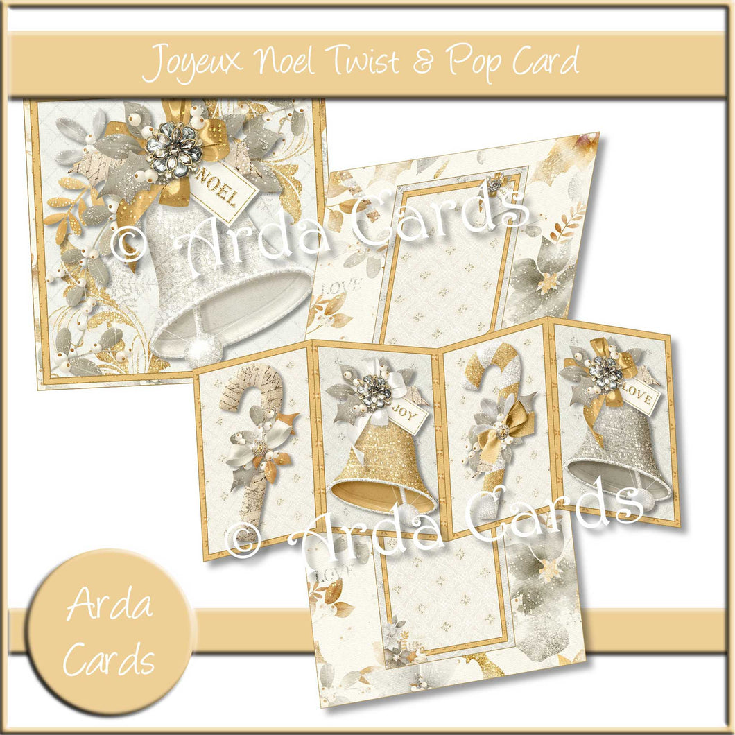 Joyeux Noel Twist & Pop Card