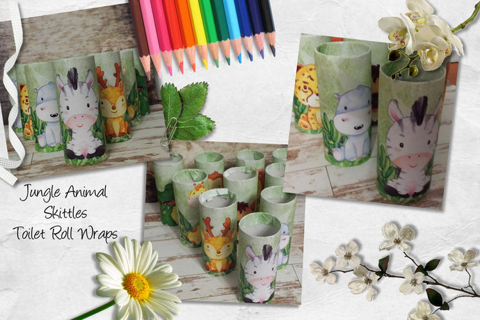 Jungle Animals Skittles - Toilet Roll Wraps