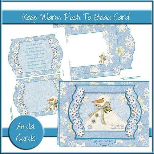 Keep Warm Push To Beau Card - The Printable Craft Shop