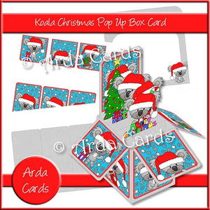 Koala Christmas Pop Up Box Card