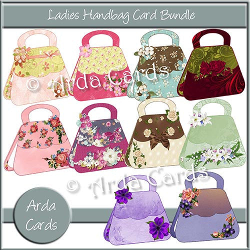 Ladies Handbag Card Bundle - The Printable Craft Shop