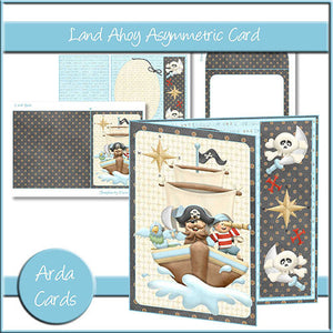 Land Ahoy Asymmetric Card - The Printable Craft Shop
