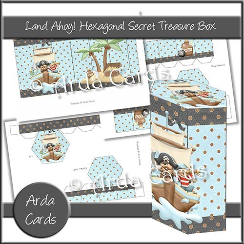 Land Ahoy! Hexagonal Secret Treasure Box - The Printable Craft Shop