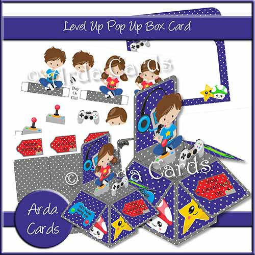 Level Up Pop Up Box Card