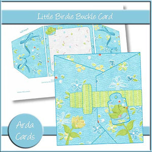 Little Birdie Buckle Card - The Printable Craft Shop