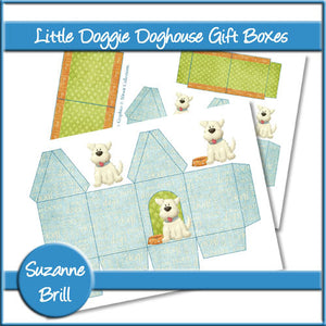 Little Doggie Doghouse Gift Boxes - The Printable Craft Shop