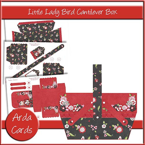 Little Lady Bird Cantilever Box - The Printable Craft Shop