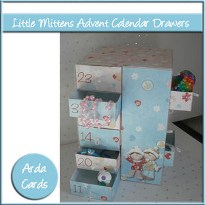 Little Mittens Advent Calendar Drawers - The Printable Craft Shop
