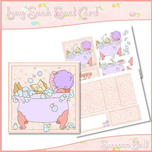 Long Soak Easel Card - The Printable Craft Shop