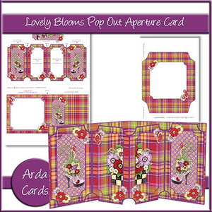 Lovely Blooms Pop Out Aperture Card - The Printable Craft Shop