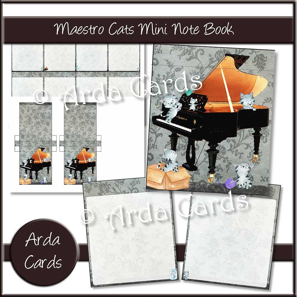 Maestro Cats Mini Notebook