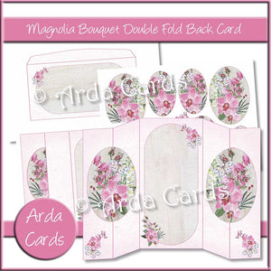 Magnolia Bouquet Double Fold Back Card