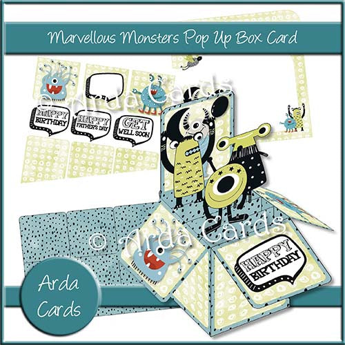 Marvelous Monsters Pop Up Box Card