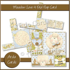 Printable 4 Fold Flap Card Bundle - The Printable Craft Shop - 7