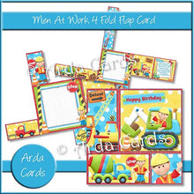 Load image into Gallery viewer, Printable 4 Fold Flap Card Bundle - The Printable Craft Shop - 8