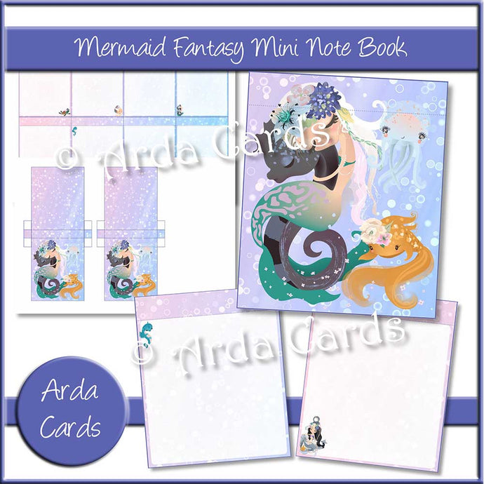 Mermaid Fantasy Mini Notebook