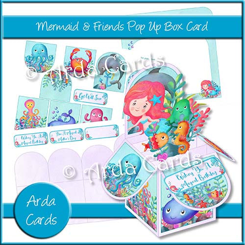 Mermaid & Friends Pop Up Box Card