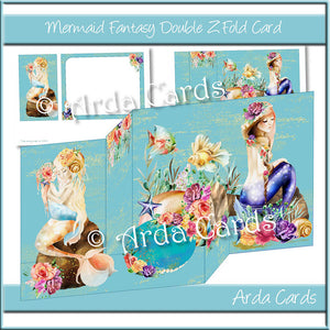 Mermaid Fantasy Z Fold Card