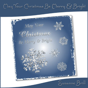 May Your Christmas Be Merry & Bright Card Front - The Printable Craft Shop