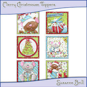 Merry Christmouse Toppers - The Printable Craft Shop