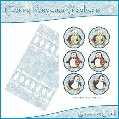 Merry Penguins Crackers - The Printable Craft Shop