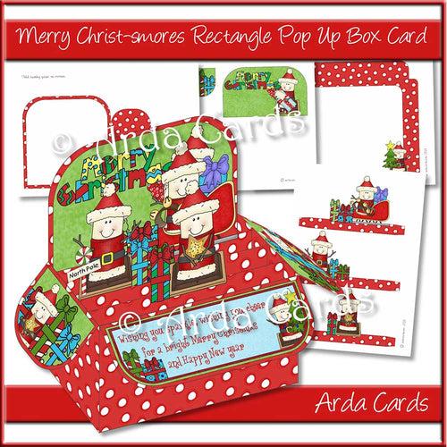 Merry Christ-smores Rectangle Pop Up Box Card
