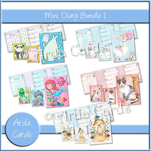 Make a Diary with a Bundle of 5 Printable Designs