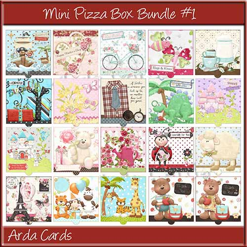 Mini Pizza Box Bundle #1