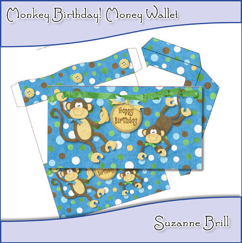 Monkey Birthday! Money Wallet - The Printable Craft Shop