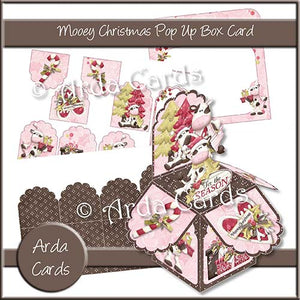Mooey Christmas Pop Up Box Card