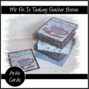 Mr Fix It Teabag Stacker Boxes - The Printable Craft Shop