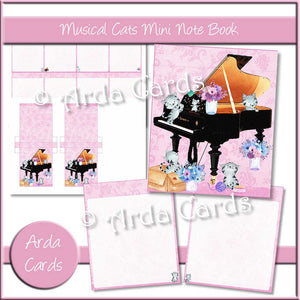 Musical Cats Mini Notebook