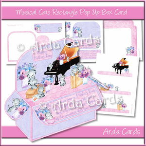 Musical Cats Rectangle Pop Up Box Card