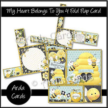 Load image into Gallery viewer, Printable 4 Fold Flap Card Bundle - The Printable Craft Shop - 9