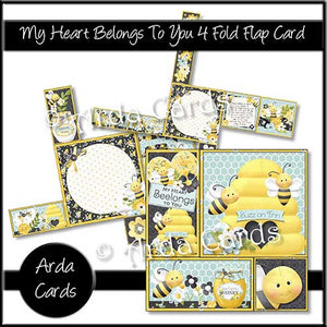 Printable 4 Fold Flap Card Bundle - The Printable Craft Shop - 9
