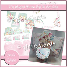 Load image into Gallery viewer, My Magical Unicorn Pop Up Box Card
