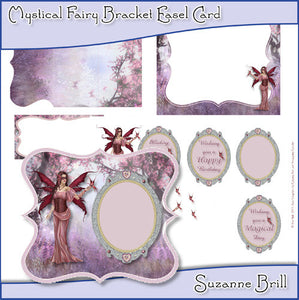 Mystical Fairy Bracket Easel Card - The Printable Craft Shop
