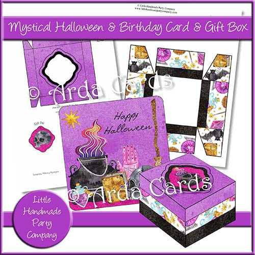 Mystical Halloween & Birthday Card & Gift Box