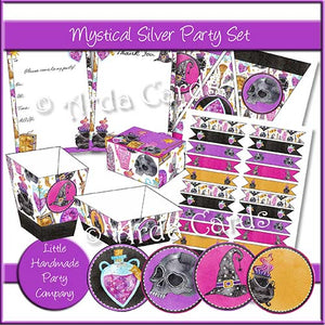 Mystical Silver Party Set