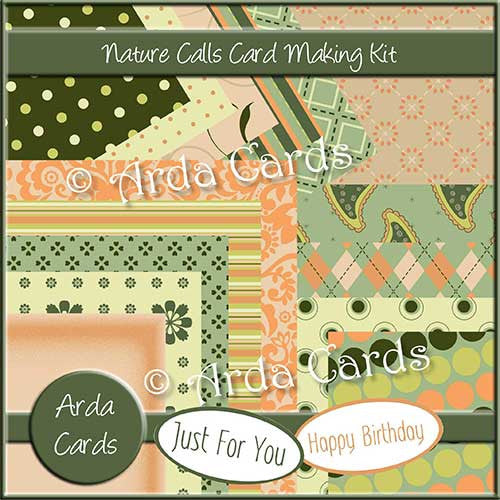 Nature Calls Card Making Kit - The Printable Craft Shop