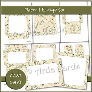Nature 1 Envelope Set - The Printable Craft Shop