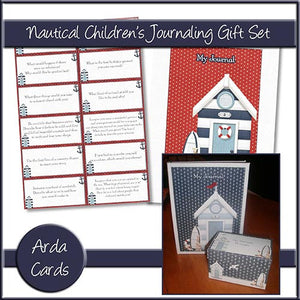 Nautical Children's Journaling Gift Set - The Printable Craft Shop