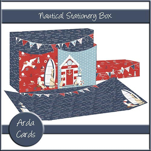 Nautical Stationery Box - The Printable Craft Shop