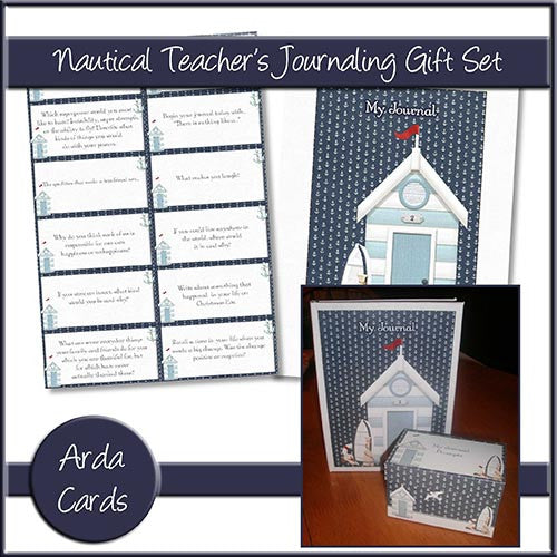 Nautical Teacher's Journaling Gift Set - The Printable Craft Shop