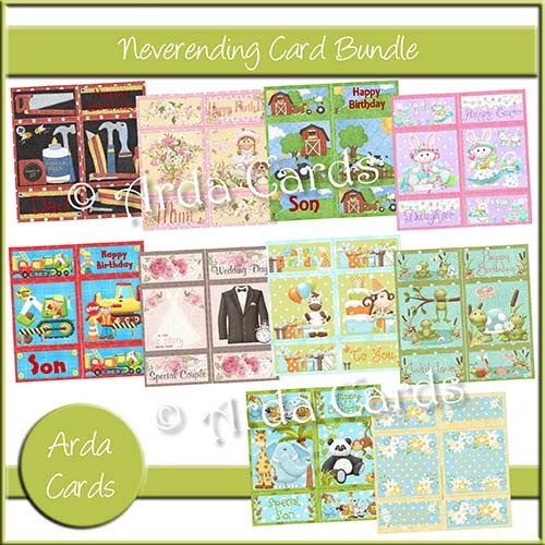 Never-Ending Card Bundle - The Printable Craft Shop