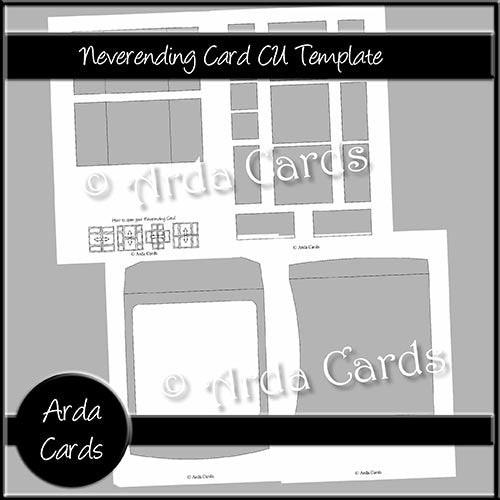 6x6 Neverending Card CU Template - The Printable Craft Shop