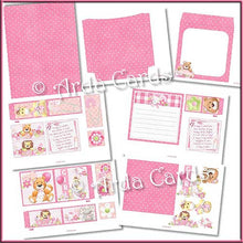 Load image into Gallery viewer, New Baby Girl 4 Fold Flap Card - The Printable Craft Shop