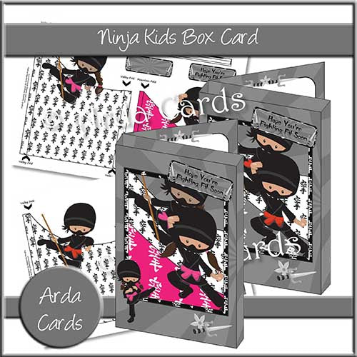Ninja Kids Box Card