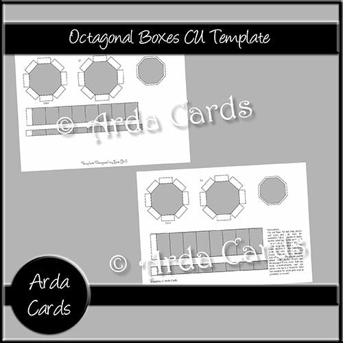 Octagonal Gift Boxes CU Template - The Printable Craft Shop
